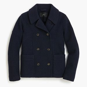 J. Crew Wool Peacoat in Navy